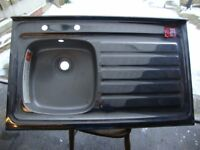 Brand New Ex Display Stainless Steel Kitchen / Utility / Garage Sink right drainer Cheap!