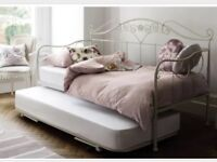 Laura Ashley Alice Daybed with trundle and mattress. Hardly used, move forces sale