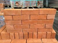 NEW 68MM HANDMADE SOFT RED STOCK BRICKS.