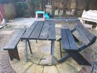 Hand made solid wood garden furniture