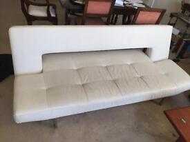 White Leather Sofa Futon Superb Luxury