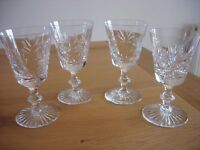 LEAD CRYSTAL WINE GLASSES (4)