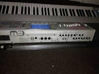 korg M3 88 note bargain..has piano keys a flag ship music workstation sampler inest