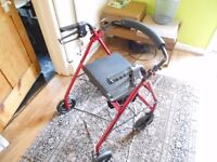 Top of the range Drive 4 Wheel Walking Aid with Brakes