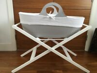 Moba contemporary moses basket and JL stand + more