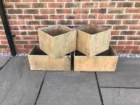 Garden Planters - 2 square, 2 rectangular