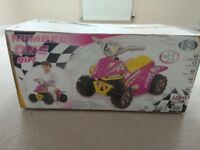 Brand new in box, Pink ride on electric quad bike