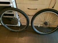 """26"""" mountain bike wheels with disc 8,9,10 speed. With 26"""" tyres"""