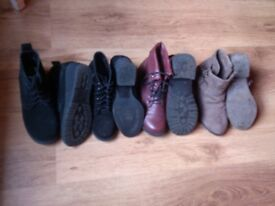 Fab girl teen boots and shoes, hardly worn size 1,2 and 3