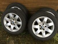 """Bmw alloys 16"""" with excellent tyres"""