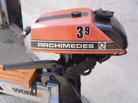 ARCHIMEDES 3.9HP OUTBOARD MOTOR VOLVO PENTA RUNS WELL
