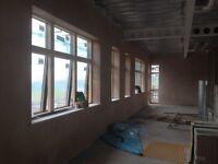 Plastering and tiling tradesman.