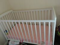 White cot for sale great condition!! Well looked after.