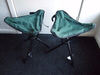 2 X Camping Fishing Stool Chair