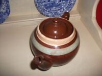 ALB Alcock Lindley Bloore Brown Betty Made in England Brown Tan Turquoise