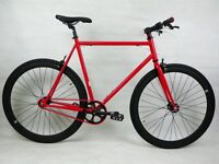 Chelsea Courier Red and Black Brand New Single Speed Bicycle with Flip Flop Hub