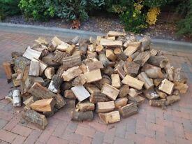 Seasoned hardwood logs 1.5 m3 ready to burn