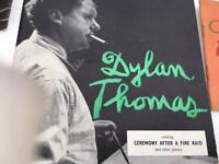 DYLAN THOMAS SET OF RECORDS AND BOOK