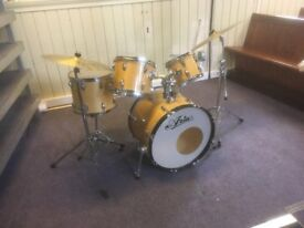 Drums and cymbals, good condition