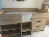 Next Compton Cabin Bed Oak Effect - Used