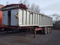 2004 wilcox triaxle alloy bulk tipping trailer half rear door comes with full test