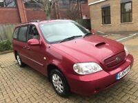 2004 KIA SEDONA 2.9 CRDI LX 7 SEAT MPV FAMILY CAR LONG MOT TOW BAR SPACIOUS N GALAXY SHARAN PREVIA