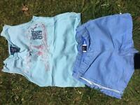 Gorgeous Gap girls shorts with gap surf top age 7 vgc
