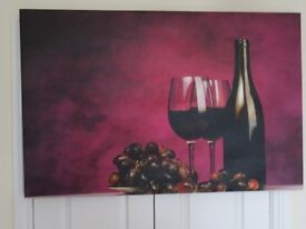 Canvas wall hanging
