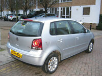 2007 VW POLO 1.4 SE TDI DIESEL. 5 DOOR, SILVER, 2 OWNER, 12 month MOT, 96K F/S/H, HPI CLEAR 100%