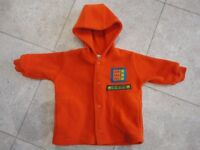 'Adams' Boys Orange Fleece Jacket 0-3 Mths