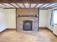 2 bedroom semi-detached 19th century brick + flint cottage near Attleborough town centre in Norfolk