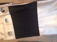 Gold and Black Curtains - 116cm x 228cm