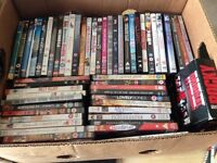 Boxes of DVDs