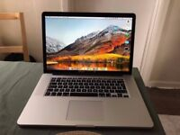 Apple MacBook Pro 15 with Retina Display, Intel Core i7, 16GB RAM, 256GB SSD - 2 years warranty