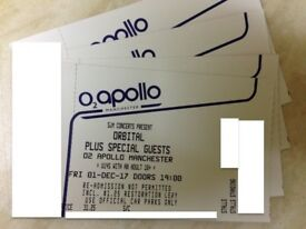 ORBITAL~MANCHESTER~O2 APOLLO~STANDING TICKETS~100% TRUSTED SELLER