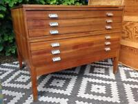 Plan chest map drawers