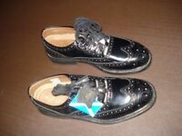 Black Ghillie Leather Brogues