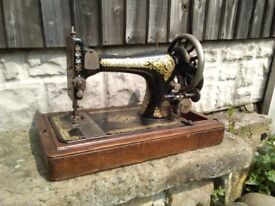 Vintage singer sewing machine hand crank