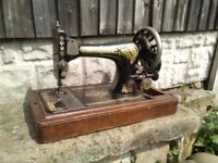 Vintage singer sewing machine hand crank