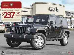 2017 Jeep Wrangler Unlimited SPORT | ALLOYS | SOFT-TOP | JUST TR