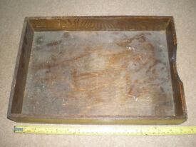Vintage Wooden Desk Paper Tray ? Read On