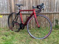 Raleigh Militis Elite Road Bike, Medium (53cm), Red, Sram Apex