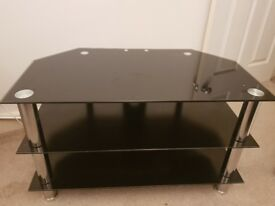 Modern Black Glass TV stand