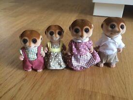 Sylvanian meerkat family