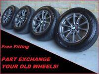 "2288 Genuine 16"" BMW 390 4 3 Series F30 Alloy Wheels & Winter Bridgestone Tyres"