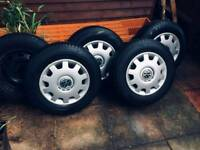 5 VW steel wheels and trims size: 175/80/14