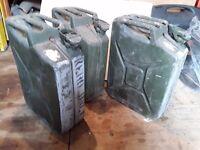 3 x 20 litre jerry cans