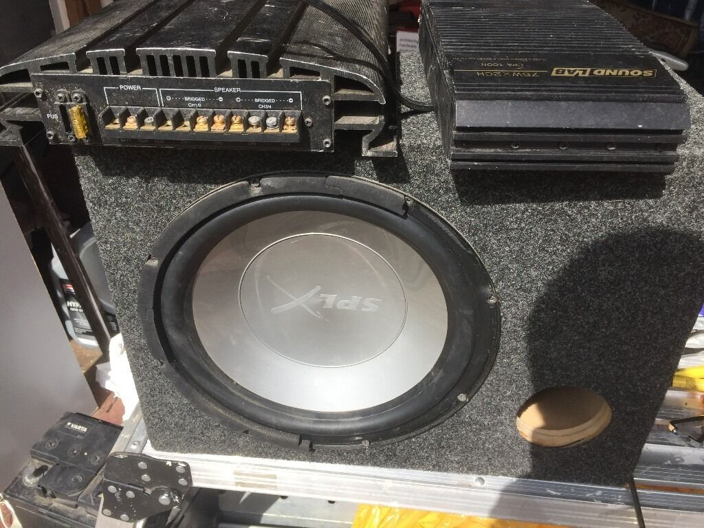 Subwoofer And 2 Amps Also Some Wires Comes Free In Dagenham Bentley Continental Audio Wiring