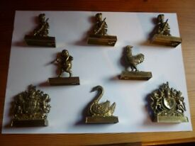 8 Vintage Lesney/Matchbox Die Cast 'British Inn Series' Collectibles. Bronze colour. VGC. £40