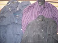 """Mens Long Sleeve Shirts XL (approx 17"""") Extra Large M&S"""